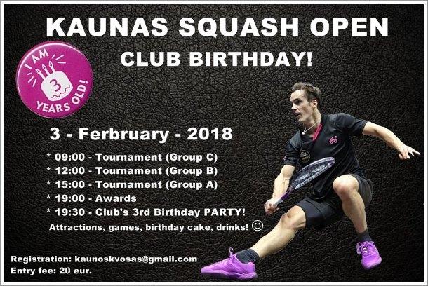 Kaunas Squash Open